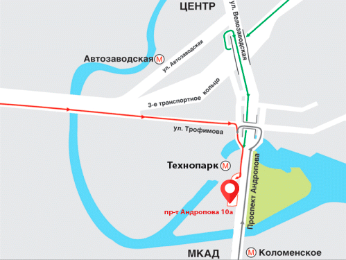 Схема проезда ООО «НИКА МОТОРС Холдинг»